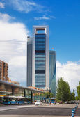 MADRID, SPAIN - July 22, 2014: Madrid city, business centre, modern skyscrapers — Stock Photo
