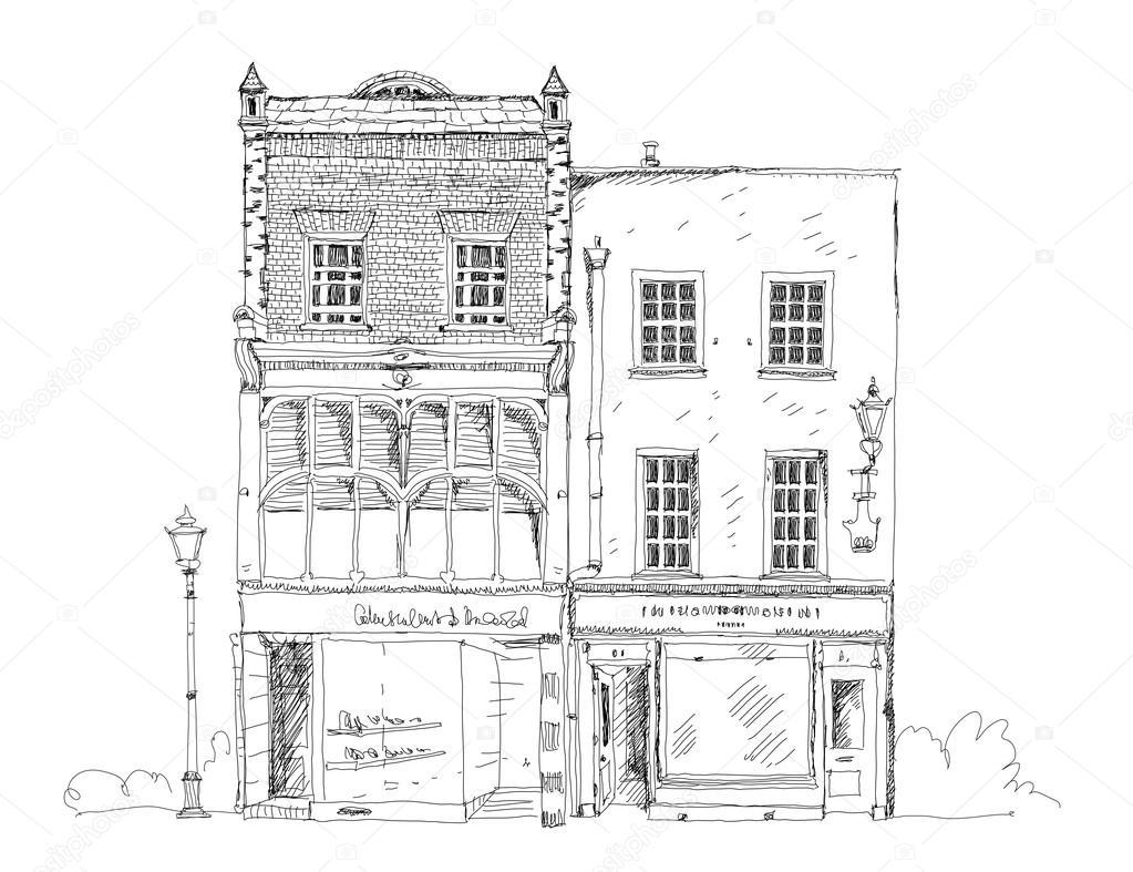 Antigua casa de pueblo ingl s con peque a tienda o negocio - Planta baja en ingles ...
