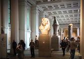 Лондон, Великобритания - 30 ноября 2014: Британский музей египетской скульптуры холл, фараона Рамзеса — Стоковое фото