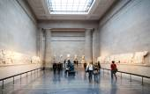 LONDON, UK - NOVEMBER 30, 2014: British museum exhibition hall. Ancient Greek collection — Stock Photo