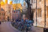 CAMBRIDGE, UK - JANUARY 18, 2015: Trinity street with Trinity college old buildings view — Stock Photo