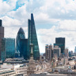 LONDON, UK - AUGUST 16, 2014: city of London view from river Thames. Modern London architecture — Stock Photo #70089071