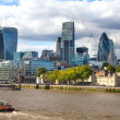 LONDON, UK - AUGUST 16, 2014: city of London view from river Thames. Modern London architecture — Stock Photo #70089341