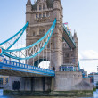LONDON, UK - AUGUST 16, 2014: Tower bridge and river Thames South bank walk. — Stock Photo #70089513