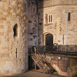 Tower of London (started 1078), old fortress, castle, prison and house of Crown Jewels. View form the river side park — Stock Photo #70730939