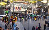 LONDON, UK - NOVEMBER 29, 2014: Stratford international train and tube station, one of the biggest transport junction of London and UK. — Stock Photo