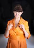 Pension age good looking woman portrait — Stock Photo