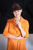 Pension Alter gut aussehende Frau Porträt — Stockfoto