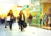 LONDON, UK - MARCH 31, 2015: Business people moving blur. People walking in rush hour. Business and modern life concept — Stock Photo