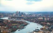 City of London panorama in sunset. River Thames and bridges — Stockfoto