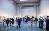 LONDON, UK - NOVEMBER 30, 2014: British museum exhibition hall. Ancient Greek collection of Pantheon — Stock Photo