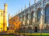 Cambridge, Velká Británie - 18 ledna 2015: King's college (založil Henry Vi, 1446). Historické budovy — Stock fotografie
