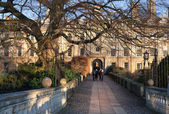 CAMBRIDGE, UK - JANUARY 18, 2015: Clare college inner yard view — Stock Photo