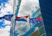 マドリッド市、ビジネス センター、近代的な高層ビル、クアトロ ・ トーレス — ストック写真