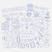 Doodle business icons — Stock Vector