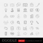 Doodle obchodní ikony — Stock vektor