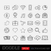Символы мобильных приложений болвана установлены — Cтоковый вектор