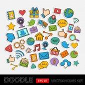 Mobile Apps Scrapbook Sticker Set — 图库矢量图片