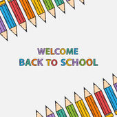 Welcome back to school  bacground with text — Stock Vector