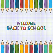 Welcome back to school  bacground — Stock Vector