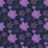 Seamless Autumn pattern:abstract purple and pink leaf,leaf fall, — Stock Vector