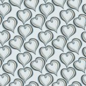 Seamless pattern with  Abstract  grey Hearts — Vector de stock