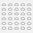Big vector set black cloud shapes, icons — Stock Vector #55728509