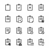 Clipboard icons over white.Vector ofice document — 图库矢量图片