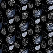Bakgrund, mönster abstrakt blå apple — Stockvektor