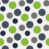 Vector Pattern with green ,grey polka dots — Cтоковый вектор