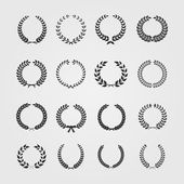 Set of wreaths,wheat circular laurel heraldry reward achievemen — Vector de stock