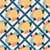 Vector seamless  flowers pattern with roses — Cтоковый вектор