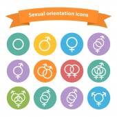 Vector sexual orientation white web icons,symbol,sign — Stock Vector