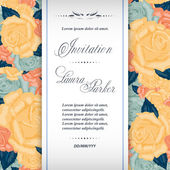 Wedding invitation template — Stock Vector