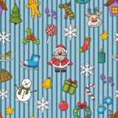 Vector  Happy New Year and Merry Christmas pattern — Stock Vector