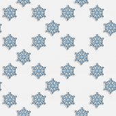 Vector seamless pattern with blue snowflakes — Vector de stock