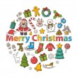Vector Christmas set — Stock Vector #58104515
