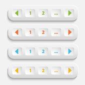 Vector Buttons for web page — Cтоковый вектор