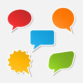 Vector realistic speech bubble sticker — 图库矢量图片