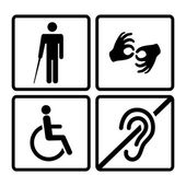 Vector disabled signs — Stock Vector