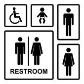 Vector restroom icons set — Stock Vector