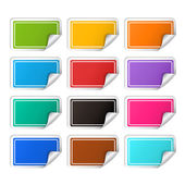 Vector realistic rectangular colorful stickers set — Stock Vector