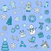 Vector Christmas pattern — Stock Vector