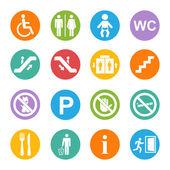 Public icons set — Stock Vector