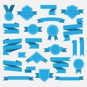 Blue ribbons,medal,award,set — Wektor stockowy