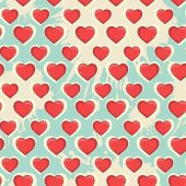 Love pattern — Stock Vector
