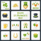 St. Patricks Day set — Stock Vector