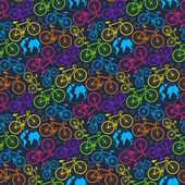 Bicycle and earth pattern — Stock Vector