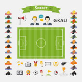 Soccer Icons set. — Stock Vector