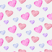 Watercolor hearts — Stock Vector